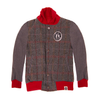 MINI SHATSU RED TWEED LETTERMAN JACKET