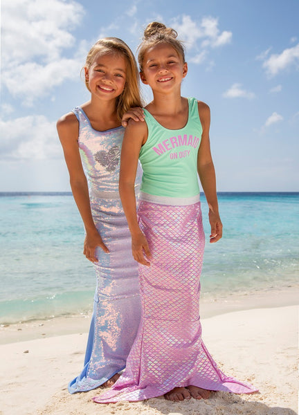 Shade Critters Periwinkle/Silver Flippable Sequins Mermaid Tail