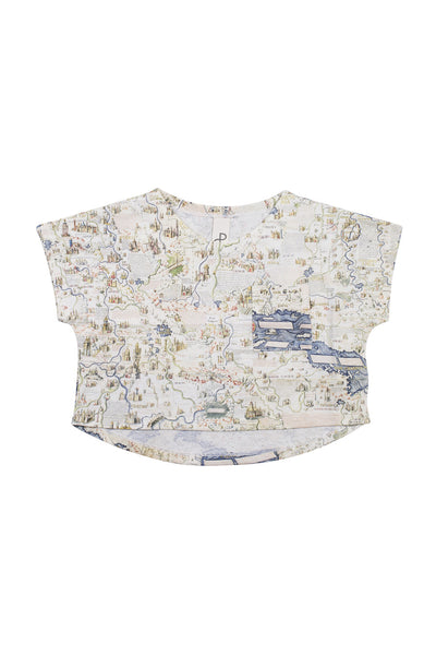 POPUP SHOP STRUCTURE LOOSE TEE-MAP 2 PRINT