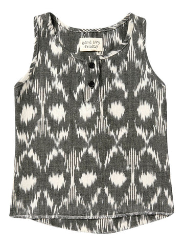 Friday Squarted Ikat Woven Tank