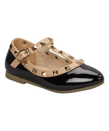 Chloe K Patent Leather Rockstud Sandal - Black