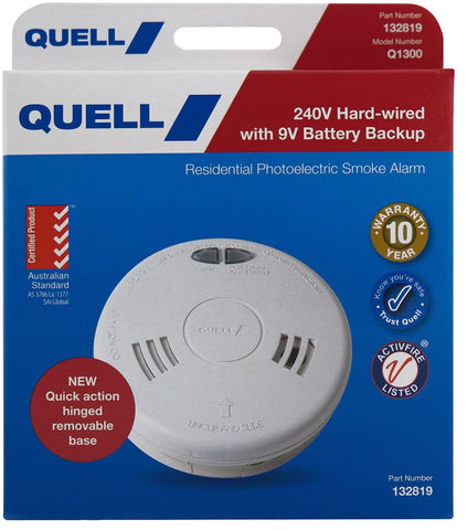 Photoelectric 240V Hard-wired Smoke Alarm (Trade Pack)