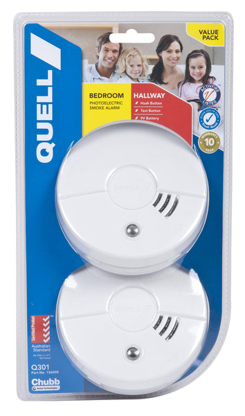 Bedroom and Hallway Photoelectric 2 Pack Hush/Test