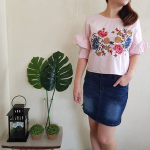 PRUE EMBROIDERY TOP (PINK)
