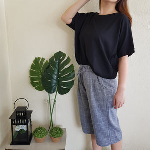 AMBER COTTON TOP (BLACK)