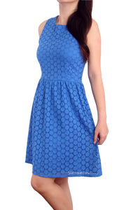 Sabby Eyelet Dress ( Blue)