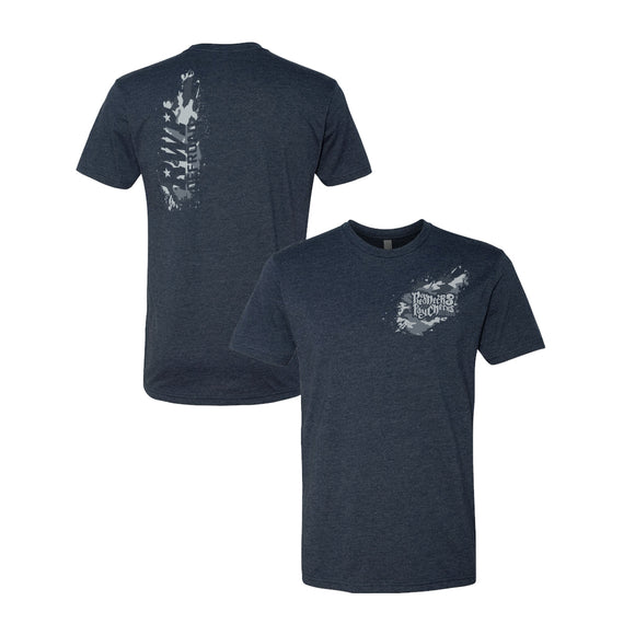 Camo Splat Primary Tee - Heather Navy