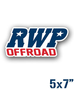 RWP OffRoad Die Cut Sticker - Red White Blue