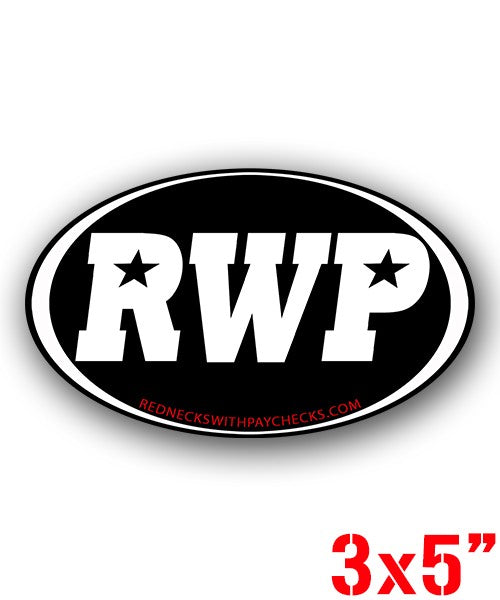 RWP OffRoad Oval Sticker - Black