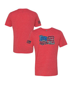 Primary Flag Tee - Heather Red
