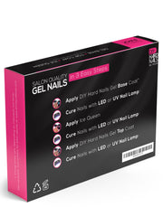 Gel Base, Top Coat and Ice Queen Color Changing Shellac Polish SET of 3 Bottles- Non-Toxic & Professional Salon Quality - DIY Hard Nails