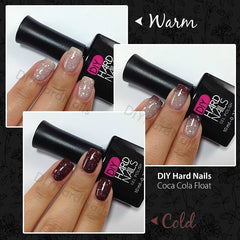 Coca Cola Float (Color Changing) - DIY Hard Nails