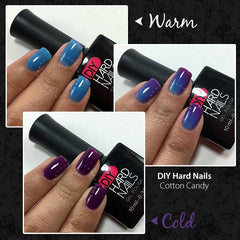 Cotton Candy (Color Changing Gel Polish) - DIY Hard Nails
