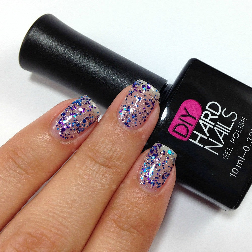 Galaxy Twilight - DIY Hard Nails