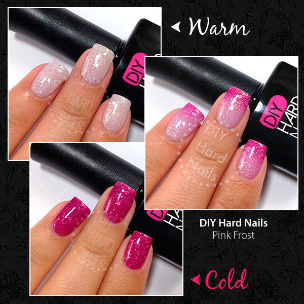 Pink frost color changing gel polish best at home gel nails pink frost color changing diy hard nails solutioingenieria Image collections