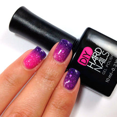 Pink Galaxy (Color Changing) - DIY Hard Nails
