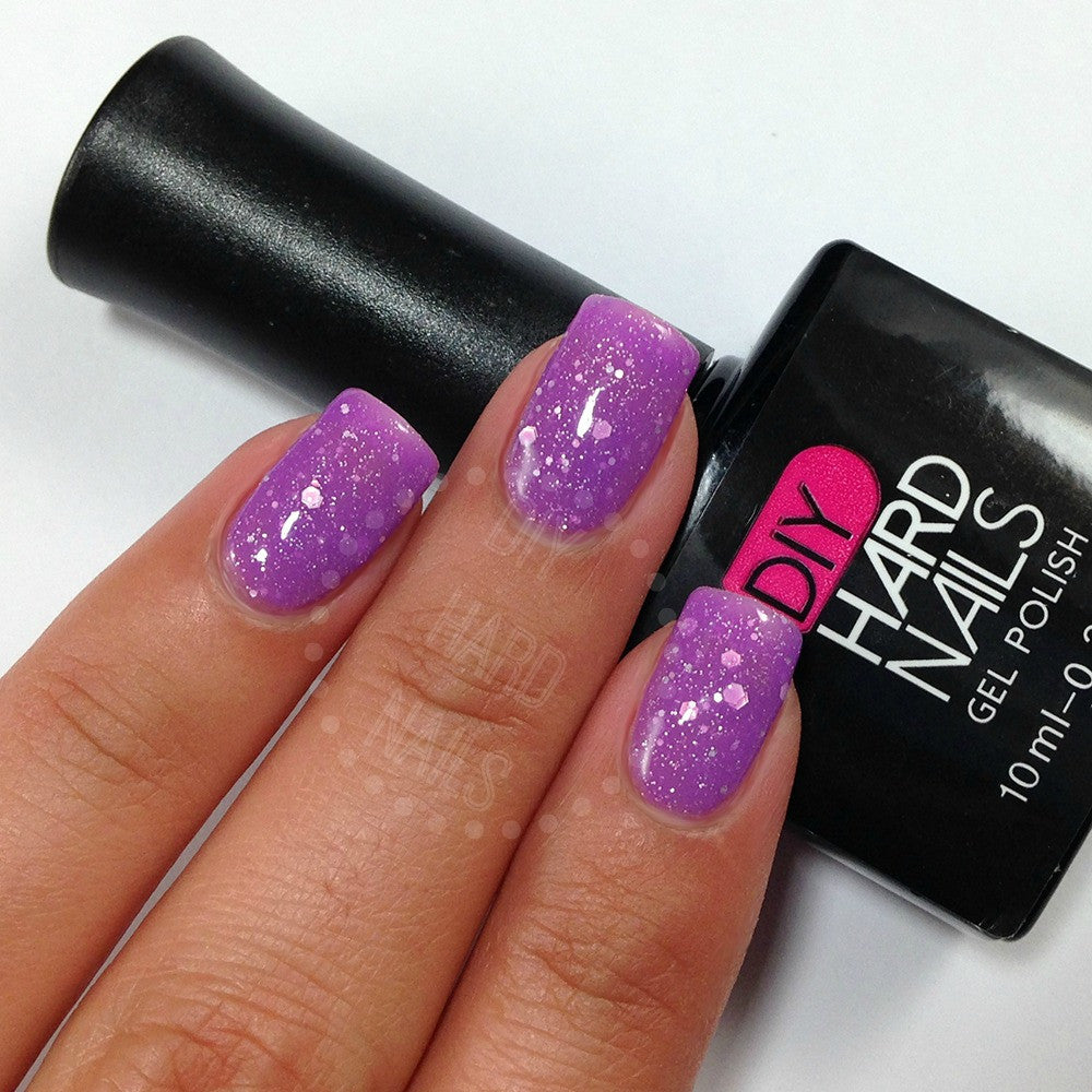 Color Changing Purple Gel Nail Polish (Ombre)