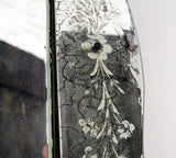 A Decorative French Etched Glass early 20th Century Mirror