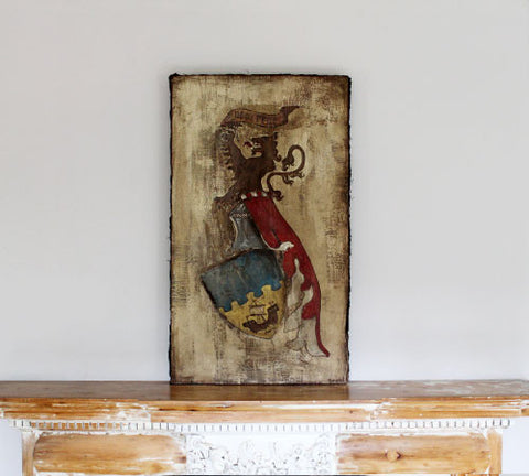 A Painted Coat of Arms – Canvas on Wood
