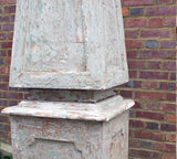 A Pair of Magnificent Painted Italian Obelisks