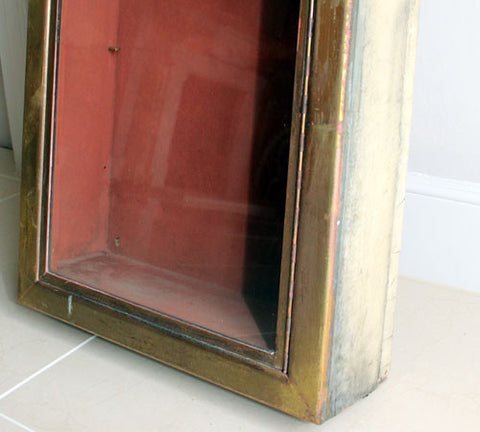 A Rare Brass Fronted Shop Display Cabinet