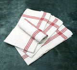 A Set of Four Hand Embroidered Antique French Handtowels