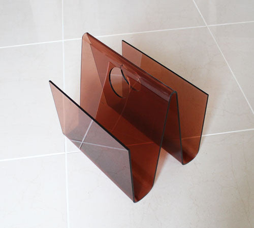 SOLD.Fabulous Red Perspex 60's Magazine Rack
