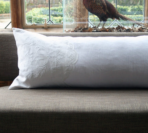 Charlotte Casadéjus Antique French Embroidered Bolster