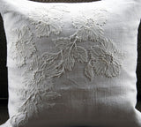 Charlotte Casadéjus 40cm Cushion with Antique French Embroidery