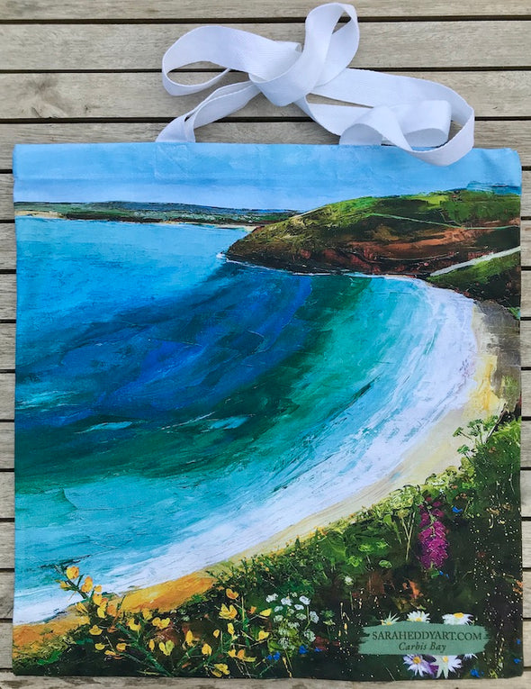 Carbis Bay, Cornwall-Cotton Tote bag