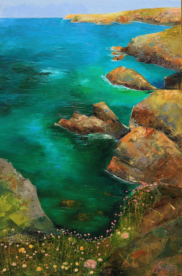 The Lizard Cornwall Original Oil Painting Changing Colours
