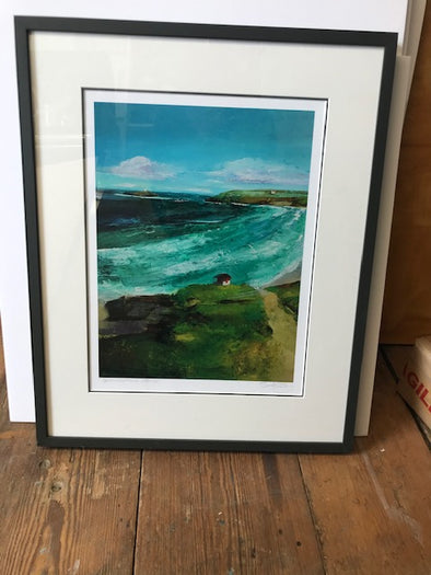 Godrevy, Framed, Signed Limited Edition print, Gwithian, Cornwall