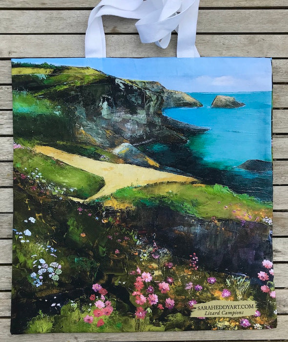 The Lizard Campions, Cornwall-Cotton Tote bag