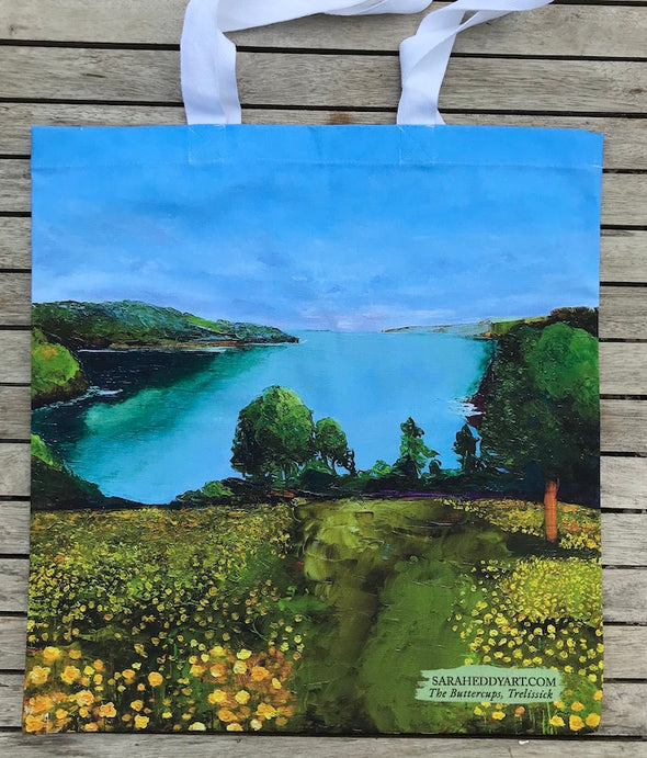 Buttercups of Trelissick, Cornwall-Cotton bag
