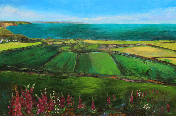 Cornwall Art Greeting Card St Agnes Beacon