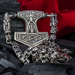 "Sterling Silver Thor's hammer pendant ""WARRIOR"""