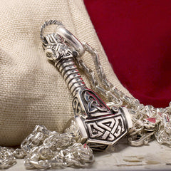 "Sterling Silver Thor's hammer Pendant ""DESTROYER"""