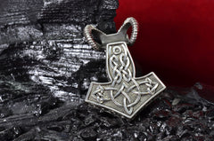 "Sterling Silver Thor's hammer pendant ""BIGHORN"""