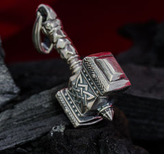 "Sterling Silver Thor's hammer pendant ""TRINITY"""