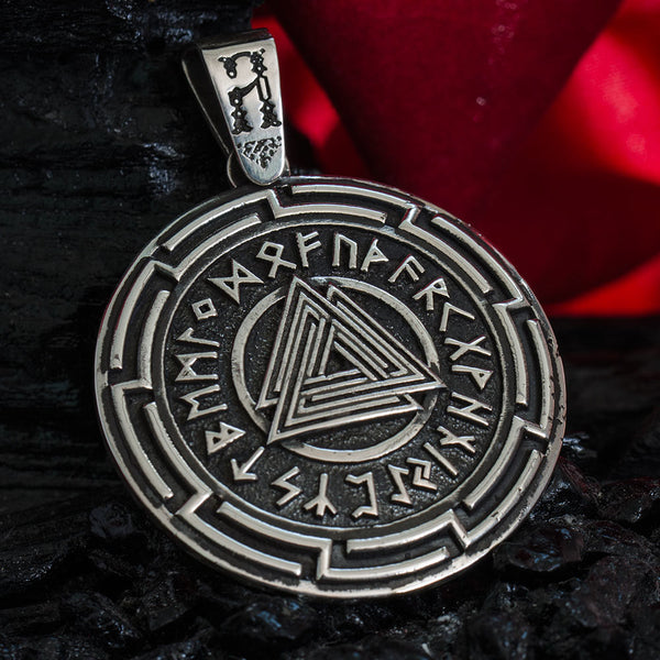 Silver Vikings Jewelry Odin S Symbol Quot Valknut Quot Pendant Thorshammerstore Com