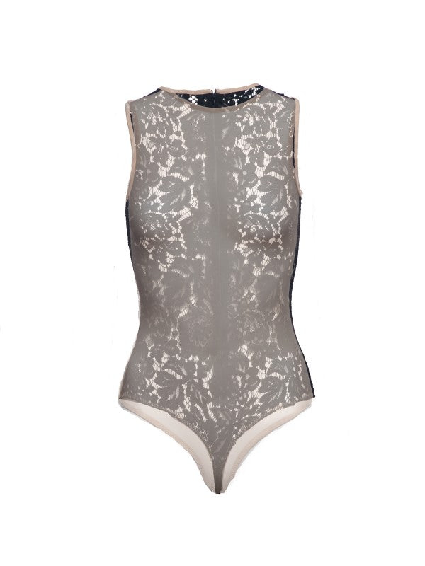 Maia mesh body with lace back