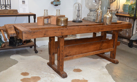 19th Century European Workers Bench