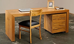 Baye Desk with Filing Cabinet