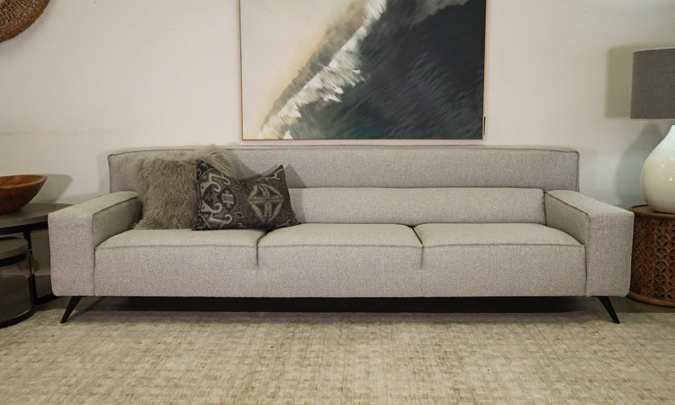 Boston Sofa 3.5 Seater Custom made to size Large range of fabrics WA Made locally australian lounge