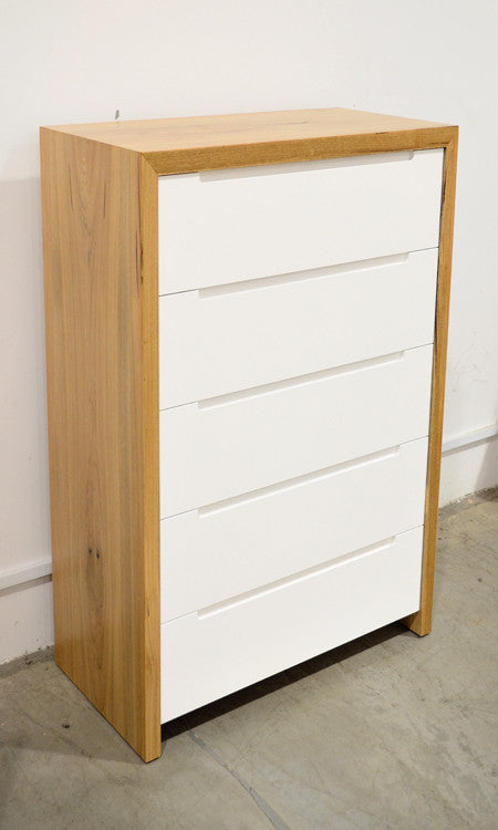 Coastal 5 Drawer Tallboy General Store Furniture Homewares