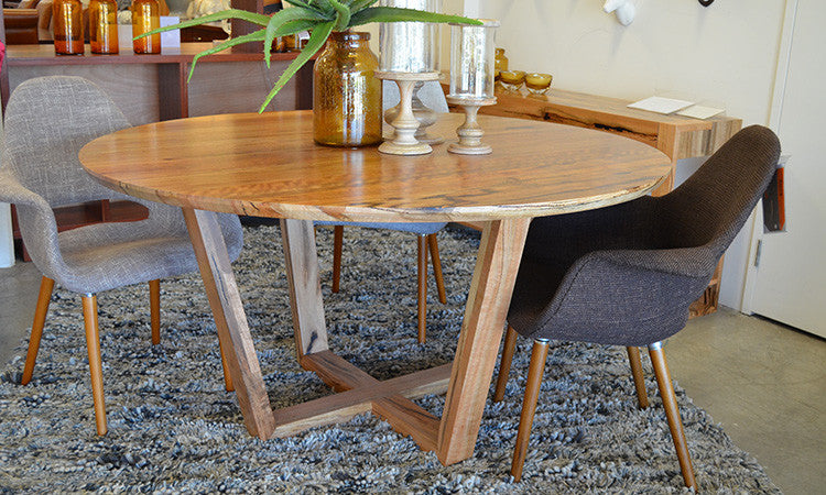 Evette Round Dining Table Available In Marri Amp Jarrah