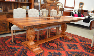 Old London Carved Refectory Table