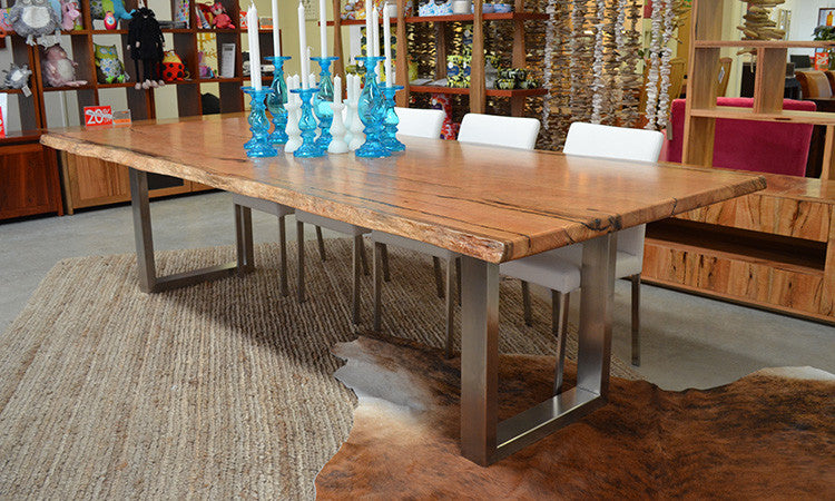 Quad Natural Edge Jarrah Marri Dining Table General Store Furniture Homewares