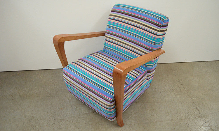 Retro Fabric Upholstered Arm Chair