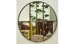 Victorian Cast Iron Round Mirror 810mm